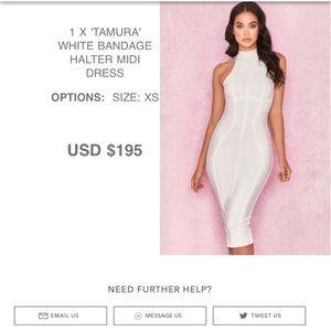 House of CB white bandage dress